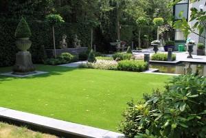 Lindo jardim artificial externo