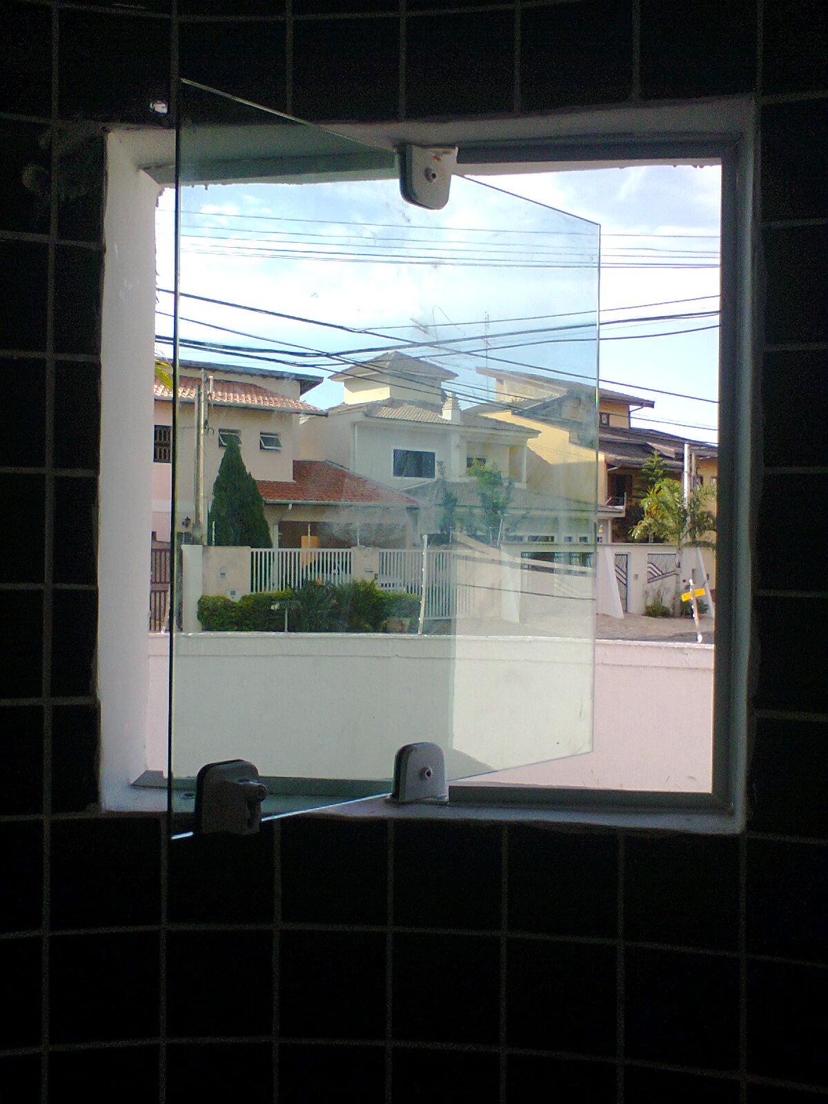 #436A88 Box de Vidro Temperado de Alta Resistência 310 Janelas De Vidro Temperado Em Arco